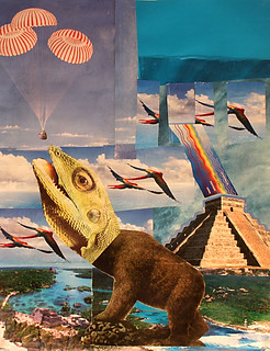 LARRY CARLSON, Yucatan Collage 3, collage on paper, 11inX14in, 2010.