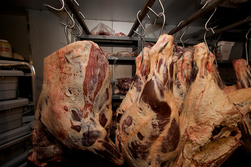 frozen meat locker