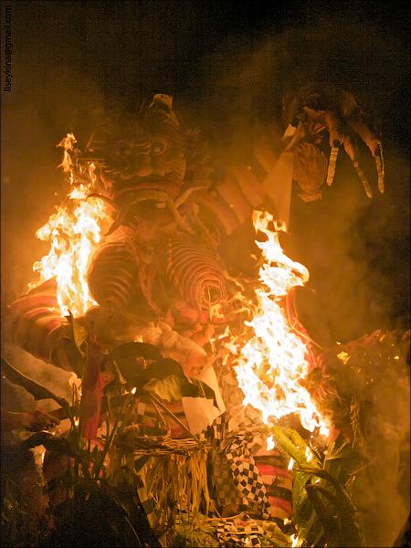 Ogo-Ogo. Nyepi Celebration. Bali