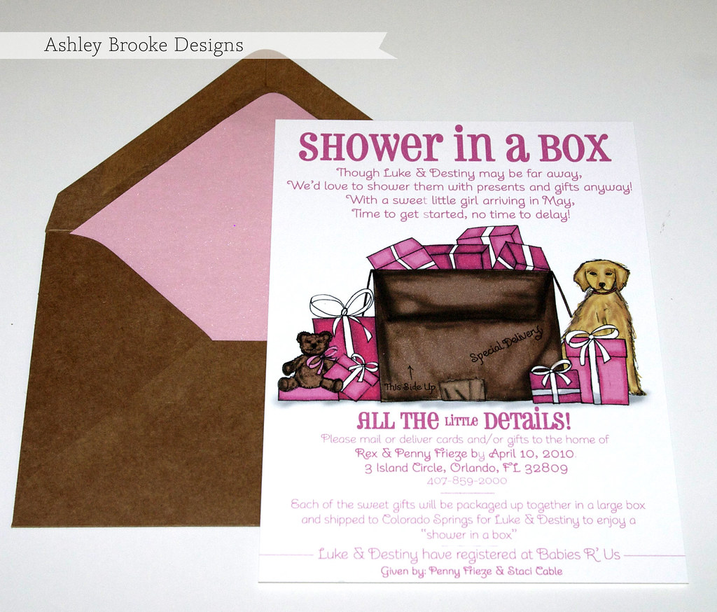 Ashley Brooke Designs: A Shower In A Box!!