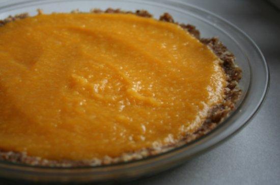 raw apricot pie