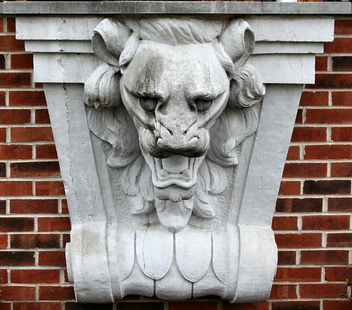 A front on view of one of the Connor's Lions