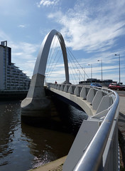 Clyde Arc (martinus_71) Tags: water river landscape lumix scotland riverclyde glasgow bridges theclyde squintybridge clydearc fz38