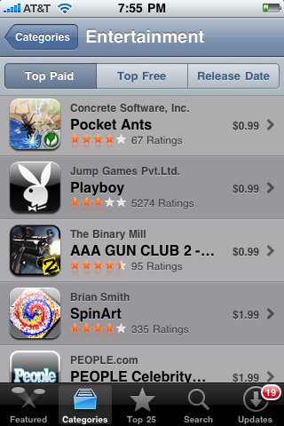 Entertainment Apps in Apple App Store