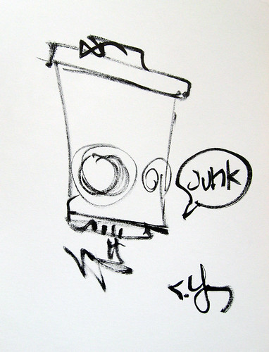 Skottie Young Quick Sketch C2E2 Junk Art Book