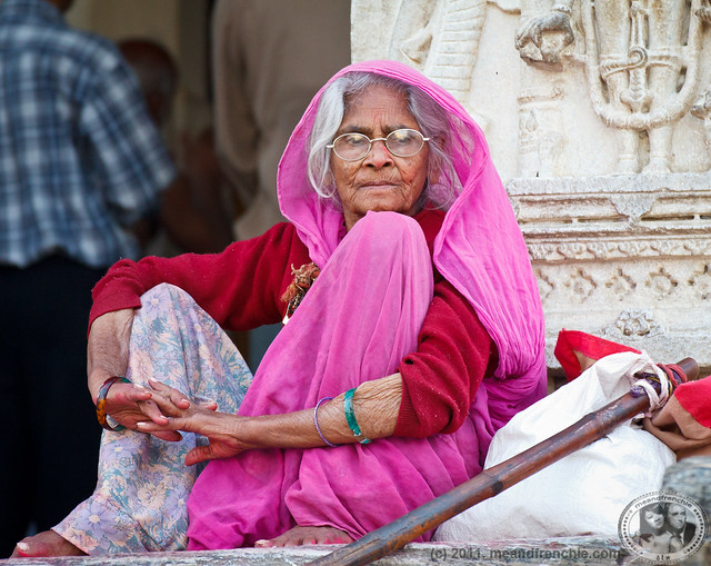 Local Woman At Temple