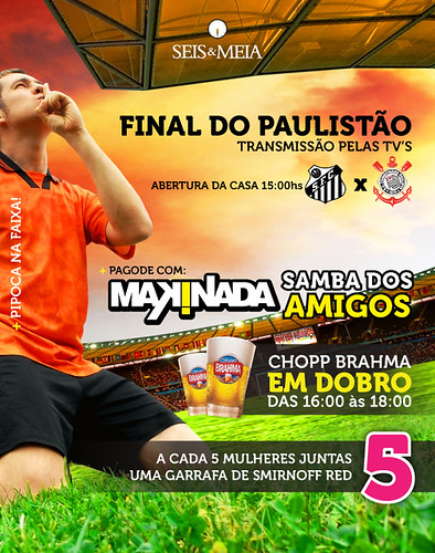 Flyer Futebol - Seis & Meia by chambe.com.br