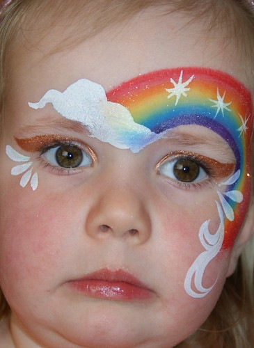 Anna and Amaia's blog: Post-party face paint