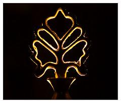 Golden Outline (aunullah) Tags: light black silhouette yellow metal backlight canon dark golden kitlens sparkle outline shape shining siluet emas kuning sinar cahaya hitam cemerlang logam gelap ukiran bayangan 450d wadah bentuk kemilau 1855mmis celak