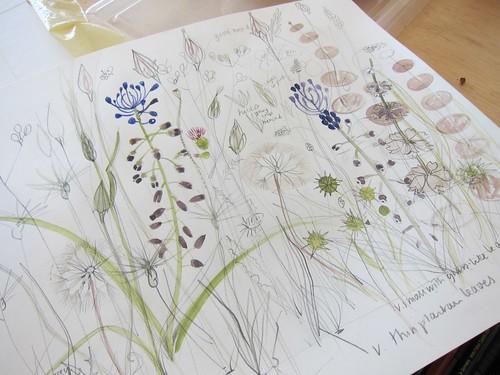 A sketchbook page