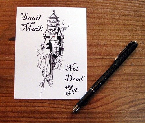 Snail Mail: Not Deat Yet postcard