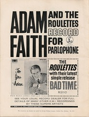 16 - Advert - Adam Faith LP and Roulettes 45 (Back cover)