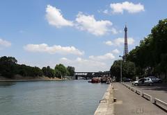 Peaceful view of the River Seine (eutouring) Tags: paris france tower seine river eiffel calm riverseine