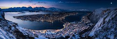● tromsø from fjellheisen ● norway ● (Oliver Jerneizig) Tags: oliverjerneizig oliverjerneizigde wwwoliverjerneizigde norwegen norway norge lofoten north wilderness landschaft landscape outdoor canon 6d canon6d tromsø tromso fjellheisen berg hill seilbahn bluehour night abend blauestunde city citylights stadt himmel blau meer see schnee snow ice eis winter moon mond tromsö