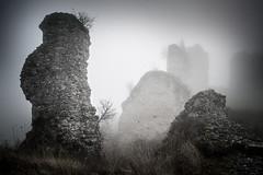 Château Gaillard (Michel Couprie) Tags: france eure normandie normandy chateau castle châteaugaillard vexin lesandelys mist misty brume brouillard medieval moyenâge ruins ruines decay mood composition canon eos tse24mmf35l couprie
