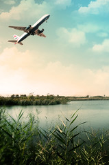 Lugares de BCN (Luis Hernandez - D2k6.es) Tags: barcelona trip naturaleza verde sol water azul lago atardecer fly agua nikon bcn nubes aeropuerto naranja olas domingo frio excursion avion exposicion patos prat aiguamolls aena d90 pajaron densenfoque