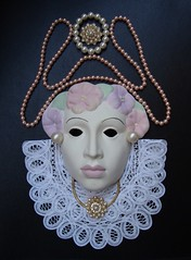 Queen Elizabeth I. (Esther Spektor - Thanks for 16+millions views..) Tags: portrait white black macro art collage design mask image exhibition everydaylife jewerly coth bej artlegacy colourartawards