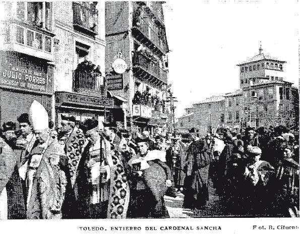 Entierro del Cardenal Sancha el 28 de febrero de 1909. Foto R. Cifuentes para ABC