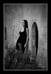 If I could rewind the time.. (andzer) Tags: door portrait people bw white plant black lady pose nikon scout andreas explore 2009 zervas andzer horizonsofculture horoc ορίζοντεσπολιτισμού wwwandzergr