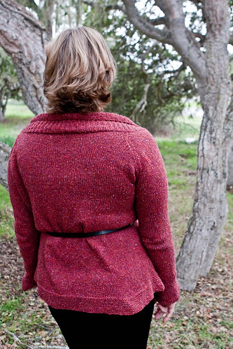 Mimi's Ruby Cardigan - Back Detail