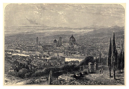031-Florencia desde la terraza de San Miniato-Italian pictures drawn with pen and pencil 1878