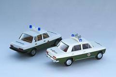 Modell - Lada 2101 und Wartburg 353 (RayKippig) Tags: scale car model police 187 polizei modell lada busch wartburg 353 herpa modellauto 2101 h0 volkspolizei automodell masstab i87blogpic