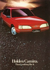 Later version of Holden Camira (Hugo-90) Tags: auto car ads advertising ascona gm cavalier 1986 holden aska generalmotors camira jcar