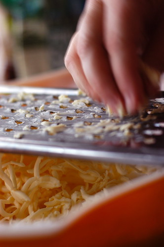grating the butter