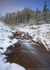 Cooper Creek (Darren White Photography) Tags: trees winter snow cold ice nature oregon creek landscapes stream natural northwest scenic pacificnorthwest mounthood vosplusbellesphotos landscapesofthenorthwest