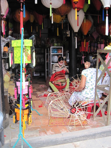 Hoi An Vietnam - Silk lanterns being made