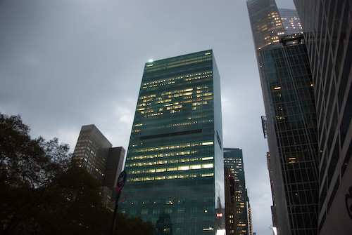 Cloudy day in NYC