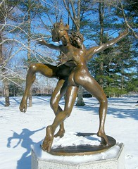 We Love to Play in the Snow (Stanley Zimny (Thank You for 23 Million views)) Tags: winter white snow ny cold male ice nature statue female dance couple play seasons snowy pair freezing fourseasons purchase pepsico 4seasons