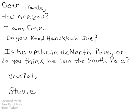 Written Note to Santa