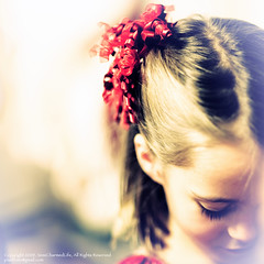 Holiday Ribbon (SemiCharmedLife ()) Tags: portrait girl bow ribbon sgi ff theface ycp hairribbon