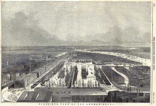 Bird's Eye View of the London Docks
