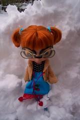 Dagmar Gina in the snow!