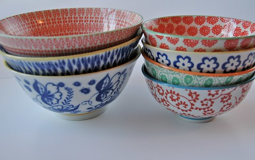 Anthropologie Asian bowls