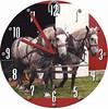 Horse Duo Clock