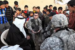 Mukhtar Meeting (The U.S. Army) Tags: afghanistan kids training soldier army toys military iraq aid soldiers surge troops usarmy deployed humanitarianaide 61caviraqiarmy morbatalgabha