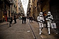 """""""Rebajas Galacticas"""" (riverac) Tags: street winter people starwars spain locals sale stormtroopers bcn rebajas"""