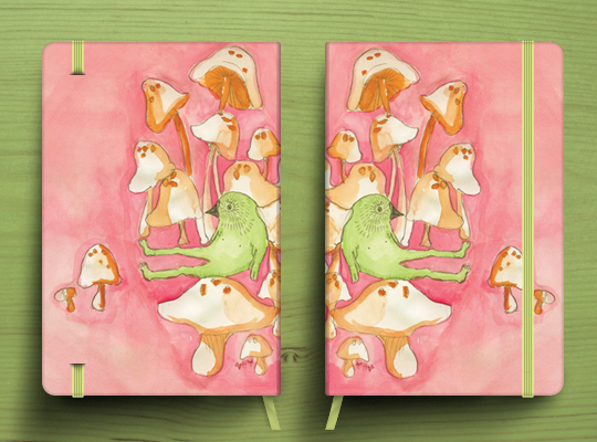 Shroomy Notebookcover