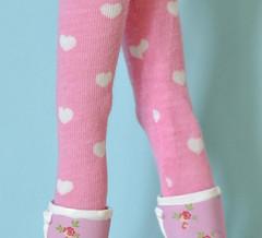 blythe pink hearts tights