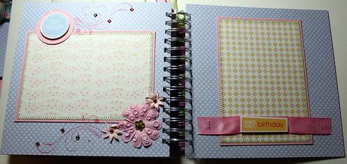 """Baby Girl - Cherish"" 8x8 20 page Chipboard Album"