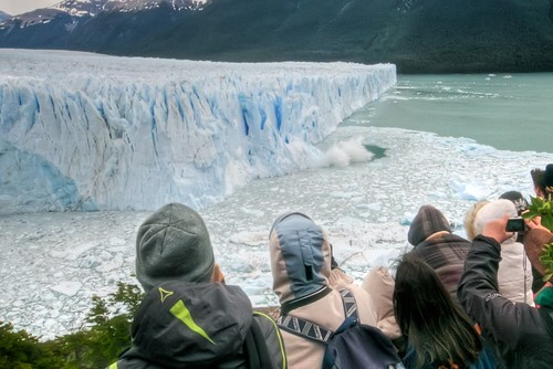 Calving on the North Face of Perito Moreno