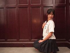 -66 (chenlinwang) Tags: portrait uniform skirt e1 kneehighsocks 1454