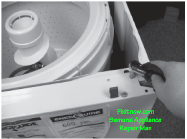 Removing the Front Panel on a Maytag Atlantis or Performa Washer