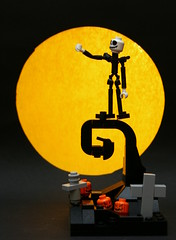 The Nightmare before Christmas (Brainbikerider) Tags: christmas moon halloween graveyard pumpkin jack tim lego hill before disney musical curly danny nightmare vignette burton elfman lament skellington moc foitsop