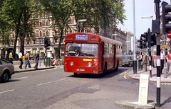 Just completed another cross town thrash. (Renown) Tags: uk england bus london coach capital victoria merlin lt londontransport mcw redarrow aec standee lte metrocammellweymann singledecker aml609h swift691 4p2r mbs609