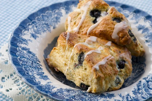 Meyer Lemon and Blueberry Cream Scones
