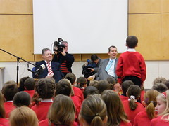 Peter Robinson Visits Riverdale Primary School